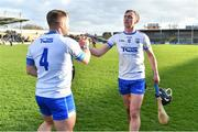 24 March 2019; Pauric Mahony of Waterford celebrates with team-mate Noel Connors of Waterford after the Allianz Hurling League Division 1 semi-final match between Galway and Waterford at Nowlan Park in Kilkenny. Photo by Brendan Moran/Sportsfile