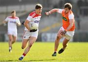 24 March 2019; Kevin Crowley of Cork in action against Ethan Rafferty of Armagh during the Allianz Football League Division 2 Round 7 match between Armagh and Cork at the Athletic Grounds in Armagh. Photo by Ramsey Cardy/Sportsfile