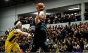24 March 2019; Kieran Donaghy of Garvey's Tralee Warriors in action against Cathal Finn of UCD Marian during the Basketball Ireland Men's Superleague match between Garvey's Warriors Tralee and UCD Marian in the Tralee Sports Complex in Tralee, Co. Kerry. Photo by Diarmuid Greene/Sportsfile