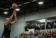 24 March 2019; Kieran Donaghy of Garvey's Tralee Warriors takes a free throw during the Basketball Ireland Men's Superleague match between Garvey's Warriors Tralee and UCD Marian in the Tralee Sports Complex in Tralee, Co. Kerry. Photo by Diarmuid Greene/Sportsfile