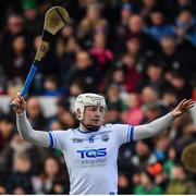 24 March 2019; Shane Bennett of Waterford celebrates scoring his side's only goal during the Allianz Hurling League Division 1 semi-final match between Galway and Waterford at Nowlan Park in Kilkenny. Photo by Brendan Moran/Sportsfile