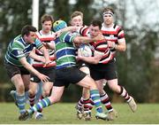 24 March 2019; Killian Lett of Enniscorthy RFC is tackled by against Kevin Browne of Gorey RFC during the Bank of Ireland Provincial Towns Cup Semi-Final match between Enniscorthy RFC and Gorey RFC at Wexford Wanderers RFC in Wexford. Photo by Matt Browne/Sportsfile