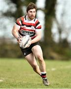 24 March 2019; Dave O'Dwyer of Enniscorthy RFC during the Bank of Ireland Provincial Towns Cup Semi-Final match between Enniscorthy RFC and Gorey RFC at Wexford Wanderers RFC in Wexford. Photo by Matt Browne/Sportsfile