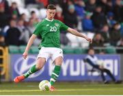 24 March 2019; Conor Masterson of Republic of Ireland during the UEFA European U21 Championship Qualifier Group 1 match between Republic of Ireland and Luxembourg in Tallaght Stadium in Dublin. Photo by Ben McShane/Sportsfile