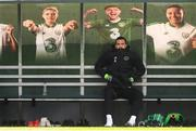 25 March 2019; Shane Duffy sits out Republic of Ireland Squad Training at FAI NTC, Abbotstown, Dublin. Photo by Stephen McCarthy/Sportsfile