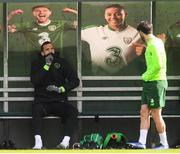 25 March 2019; Shane Duffy, left, and Harry Arter during Republic of Ireland Squad Training at FAI NTC, Abbotstown, Dublin. Photo by Stephen McCarthy/Sportsfile
