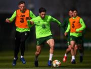 25 March 2019; Harry Arter in action against Aiden O'Brien during Republic of Ireland Squad Training at FAI NTC, Abbotstown, Dublin. Photo by Stephen McCarthy/Sportsfile