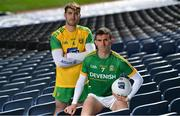 25 March 2019; In attendance at the 2019 Allianz Football League Finals preview are Shane McEntee of Meath, right, and Stephen McMenamin of Donegal at Croke Park in Dublin. 2019 marks the 27th year of Allianz' support of courage on the field of play through its sponsorship of the Allianz Football and Hurling Leagues. Mayo meet Kerry in this Sunday's Division 1 decider at Croke Park (4pm), while Meath and Donegal will contest the Division 2 Final in Croke Park on Saturday (5pm), preceded by the Division 4 final meeting of Leitrim and Derry (3pm).  Photo by Brendan Moran/Sportsfile