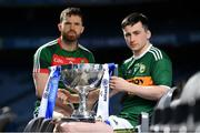 25 March 2019; In attendance at the 2019 Allianz Football League Finals preview are Paul Murphy of Kerry, right, and Chris Barrett of Mayo at Croke Park in Dublin. 2019 marks the 27th year of Allianz' support of courage on the field of play through its sponsorship of the Allianz Football and Hurling Leagues. Mayo meet Kerry in this Sunday's Division 1 decider at Croke Park (4pm), while Meath and Donegal will contest the Division 2 Final in Croke Park on Saturday (5pm), preceded by the Division 4 final meeting of Leitrim and Derry (3pm).  Photo by Brendan Moran/Sportsfile