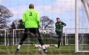 25 March 2019; Goalkeeping coach Alan Kelly with Darren Randolph during Republic of Ireland Squad Training at FAI NTC, Abbotstown, Dublin. Photo by Stephen McCarthy/Sportsfile