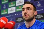 25 March 2019; Jack Conan during a Leinster Rugby press conference at Leinster Rugby Headquarters in UCD, Dublin. Photo by Ramsey Cardy/Sportsfile