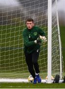 25 March 2019; Mark Travers during Republic of Ireland Squad Training at FAI NTC, Abbotstown, Dublin. Photo by Stephen McCarthy/Sportsfile