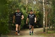 25 March 2019; Garry Ringrose, left, and Luke McGrath arrive for Leinster squad training at Rosemount in UCD, Dublin. Photo by Ramsey Cardy/Sportsfile
