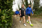 25 March 2019; Rory O'Loughlin, left, and Rob Kearney arrive for Leinster squad training at Rosemount in UCD, Dublin. Photo by Ramsey Cardy/Sportsfile