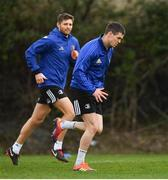 25 March 2019; Jonathan Sexton, right, and Ross Byrne during Leinster squad training at Rosemount in UCD, Dublin. Photo by Ramsey Cardy/Sportsfile