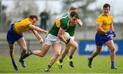 24 March 2019; Jack Barry of Kerry in action against Aonghus Lyons of Roscommon during the Allianz Football League Division 1 Round 7 match between Roscommon and Kerry at Dr. Hyde Park in Roscommon. Photo by Sam Barnes/Sportsfile
