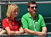 18 March 2019; Mary Davis, Chief Executive Officer of Special Olympics International and Matt English, CEO of Special Olympics Ireland  on Day Four of the 2019 Special Olympics World Games in the Dubai Police Officer's Club Stadium, Dubai, United Arab Emirates.  Photo by Ray McManus/Sportsfile