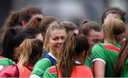 24 March 2019; Sarah Rowe of Mayo in the team huddle before the Lidl Ladies NFL Round 6 match between Mayo and Cork at Elverys MacHale Park in Castlebar, Mayo. Photo by Piaras Ó Mídheach/Sportsfile
