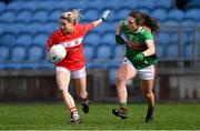 24 March 2019; Orla Finn of Cork in action against Róisín Flynn of Mayo during the Lidl Ladies NFL Round 6 match between Mayo and Cork at Elverys MacHale Park in Castlebar, Mayo. Photo by Piaras Ó Mídheach/Sportsfile