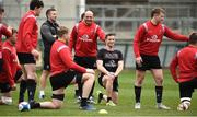 26 March 2019; Rory Best and John Cooney during Ulster squad training at Kingspan Stadium Ravenhill in Belfast, Co Down. Photo by Oliver McVeigh/Sportsfile