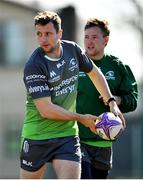 26 March 2019; Jack Carty, left, and Kieran Marmion during Connacht squad training at the Sportsground in Galway. Photo by Ramsey Cardy/Sportsfile
