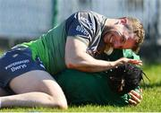 26 March 2019; Jack Carty, above, and Niyi Adeolokun during Connacht squad training at the Sportsground in Galway. Photo by Ramsey Cardy/Sportsfile