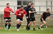 26 March 2019; Marcell Coetzee, Wiehahn Herbst, Rob Herring and John Cooney of Ulster during Ulster squad training at Kingspan Stadium Ravenhill in Belfast, Co Down. Photo by Oliver McVeigh/Sportsfile