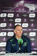 26 March 2019; Head coach Andy Friend during a Connacht press conference at the Sportsground in Galway. Photo by Ramsey Cardy/Sportsfile