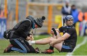 24 March 2019; Seán Treacy of Dublin is attended to by medical personnel during the Allianz Hurling League Division 1 Semi-Final match between Limerick and Dublin at Nowlan Park in Kilkenny. Photo by Brendan Moran/Sportsfile