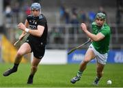 24 March 2019; John Hetherton of Dublin in action against Sean Finn of Limerick during the Allianz Hurling League Division 1 Semi-Final match between Limerick and Dublin at Nowlan Park in Kilkenny. Photo by Brendan Moran/Sportsfile