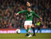 26 March 2019; Conor Hourihane of Republic of Ireland shoots to score his side's first goal during the UEFA EURO2020 Group D qualifying match between Republic of Ireland and Georgia at the Aviva Stadium, Lansdowne Road, in Dublin. Photo by Stephen McCarthy/Sportsfile