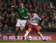 26 March 2019; Jeff Hendrick of Republic of Ireland in action against Otar Kiteishvili of Georgia during the UEFA EURO2020 Group D qualifying match between Republic of Ireland and Georgia at the Aviva Stadium, Lansdowne Road, in Dublin. Photo by Harry Murphy/Sportsfile