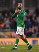 26 March 2019; David McGoldrick of Republic of Ireland applauds to supporters as he is substituted off during the UEFA EURO2020 Group D qualifying match between Republic of Ireland and Georgia at the Aviva Stadium, Lansdowne Road, in Dublin. Photo by Stephen McCarthy/Sportsfile