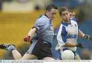21 September 2003; John Noonan, Dublin, in action against Waterford's Michael Crotty. All-Ireland U21 Football Championship Semi-Final, Dublin v Waterford, Semple Stadium, Thurles. Picture credit; Matt Browne / SPORTSFILE *EDI*