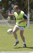 20 October 2003; Shane Ryan during a training session  in preparation for the Australia v Ireland, International Rules game. Swan Districts Football Club, Bassendean Oval, Bassendean, Perth, Western Australia. Picture credit; Ray McManus / SPORTSFILE *EDI*