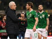 26 March 2019; Republic of Ireland manager Mick McCarthy with Jeff Hendrick following the UEFA EURO2020 Group D qualifying match between Republic of Ireland and Georgia at the Aviva Stadium, Lansdowne Road, in Dublin. Photo by Stephen McCarthy/Sportsfile