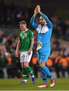26 March 2019; Darren Randolph of Republic of Ireland claps the supporters following the UEFA EURO2020 Group D qualifying match between Republic of Ireland and Georgia at the Aviva Stadium, Lansdowne Road, in Dublin. Photo by Seb Daly/Sportsfile