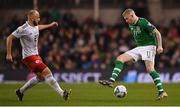 26 March 2019; James McClean of Republic of Ireland in action against Valerian Gvilia of Georgia during the UEFA EURO2020 Group D qualifying match between Republic of Ireland and Georgia at the Aviva Stadium, Lansdowne Road, in Dublin. Photo by Seb Daly/Sportsfile
