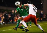 26 March 2019; Matt Doherty of Republic of Ireland in action against Levan Kharabadze of Georgia during the UEFA EURO2020 Group D qualifying match between Republic of Ireland and Georgia at the Aviva Stadium, Lansdowne Road, in Dublin. Photo by Stephen McCarthy/Sportsfile
