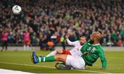 26 March 2019; David McGoldrick of Republic of Ireland has a shot on goal during the UEFA EURO2020 Group D qualifying match between Republic of Ireland and Georgia at the Aviva Stadium, Lansdowne Road, in Dublin. Photo by Seb Daly/Sportsfile