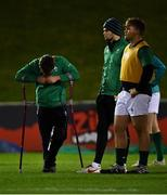 15 March 2019; Injured Ireland captain David Hawkshaw before the U20 Six Nations Rugby Championship match between Wales and Ireland at Zip World Stadium in Colwyn Bay, Wales. Photo by Piaras Ó Mídheach/Sportsfile