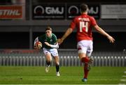 15 March 2019; Jake Flannery of Ireland during the U20 Six Nations Rugby Championship match between Wales and Ireland at Zip World Stadium in Colwyn Bay, Wales. Photo by Piaras Ó Mídheach/Sportsfile