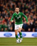 26 March 2019; Conor Hourihane of Republic of Ireland during the UEFA EURO2020 Group D qualifying match between Republic of Ireland and Georgia at the Aviva Stadium, Lansdowne Road, in Dublin. Photo by Seb Daly/Sportsfile