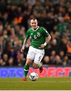 26 March 2019; Glenn Whelan of Republic of Ireland during the UEFA EURO2020 Group D qualifying match between Republic of Ireland and Georgia at the Aviva Stadium, Lansdowne Road, in Dublin. Photo by Seb Daly/Sportsfile