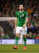26 March 2019; Shane Duffy of Republic of Ireland during the UEFA EURO2020 Group D qualifying match between Republic of Ireland and Georgia at the Aviva Stadium, Lansdowne Road, in Dublin. Photo by Seb Daly/Sportsfile