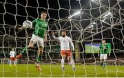 26 March 2019; Jeff Hendrick of Republic of Ireland scores a goal which was subsequently disallowed during the UEFA EURO2020 Group D qualifying match between Republic of Ireland and Georgia at the Aviva Stadium, Lansdowne Road, in Dublin. Photo by Stephen McCarthy/Sportsfile