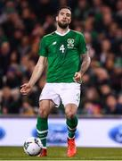 26 March 2019; Shane Duffy of Republic of Ireland during the UEFA EURO2020 Group D qualifying match between Republic of Ireland and Georgia at the Aviva Stadium, Lansdowne Road, in Dublin. Photo by Harry Murphy/Sportsfile