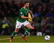 26 March 2019; Enda Stevens of Republic of Ireland during the UEFA EURO2020 Group D qualifying match between Republic of Ireland and Georgia at the Aviva Stadium, Lansdowne Road, in Dublin. Photo by Harry Murphy/Sportsfile