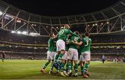 26 March 2019; Republic of Ireland players celebrate after Conor Hourihane scored during the UEFA EURO2020 Group D qualifying match between Republic of Ireland and Georgia at the Aviva Stadium, Lansdowne Road in Dublin. Photo by Stephen McCarthy/Sportsfile