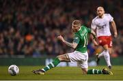 26 March 2019; James McClean of Republic of Ireland during the UEFA EURO2020 Group D qualifying match between Republic of Ireland and Georgia at the Aviva Stadium, Lansdowne Road in Dublin. Photo by Stephen McCarthy/Sportsfile